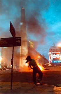 December 2001 riots in Argentina Period of civil unrest in Argentina
