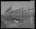 Oblique view of upper 230-KV switchyard. View west. - Davis Dam, Switchyards, Southeast of Davis Dam, Kingman, Mohave County, AZ HAER AZ-77-A-3.tif