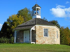 Octagonal Schoolhouse, north-western face.JPG