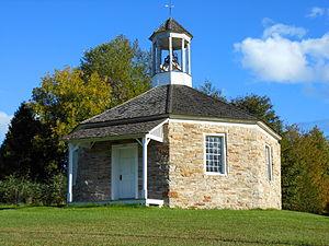 Essex, New York - The Octagonal Schoolhouse in the hamlet of Boquet