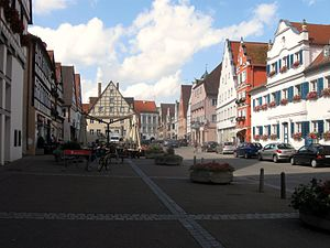 Oettingen in Bayern - The Markplatz in July 2009.