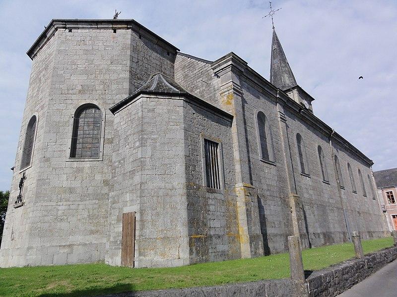 Ohain (Nord, Fr) église Saint-Martin, coté nord-est