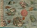 Olaus Magnus' Map of Scandinavia 1539, Section D, Western Islands.jpg