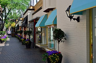 Yorkville, Toronto - Yorkville is home to a number of upscale boutique stores.