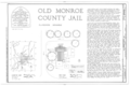 Old Monroe County Jail, Main and Kendall Streets, Clarendon, Monroe County, AR HABS ARK,48-CLAR,1- (sheet 1 of 8).png