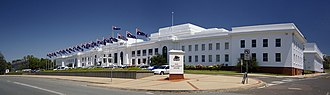 Old Parliament House, Canberra - Old Parliament House viewed from Queen Victoria Terrace