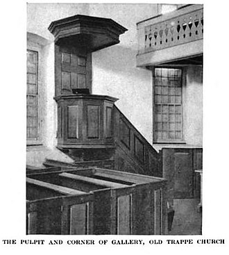 Augustus Lutheran Church - Image: Old Trappe Church Interior 1919