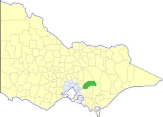Shire of Upper Yarra - Location in Victoria