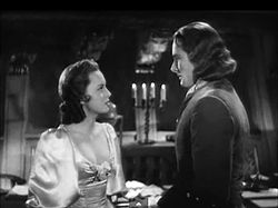 Olivia de Havilland and Errol Flynn in Captain Blood trailer.JPG