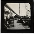 On board a boat, possibly a ketch, lugger or yawl, early 1900s (2465710054).jpg