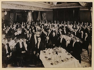 Canadian Bar Association - A dinner of the Ontario Bar Association, a branch of the CBA in Canada's most populous province, in 1910 in Toronto.