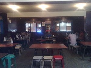 TASMAC - Interior of a TASMAC Bar in Ooty