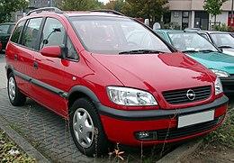 Opel Zafira A Wikipedia