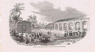 Rail transport in Jamaica - Opening of the Jamaica Railway - Kingston Terminus