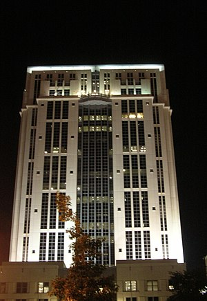 Orange County Courthouse (Orlando, Florida) - Image: Orange County, FL Courthouse at Night