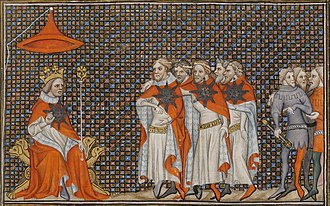 Order of the Star (France) - 14th-century miniature of the Order's founding meeting (Bibliothèque nationale de France)