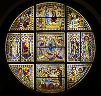 Original rose window of the Duomo by Duccio - Museo dell'Opera del Duomo - Siena 2016 (2).jpg