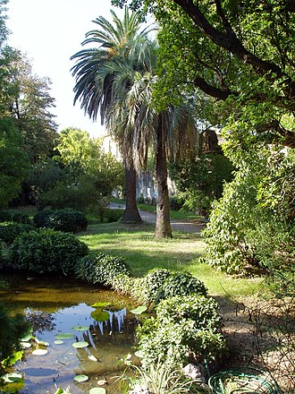 Botanical garden - Orto botanico di Pisa operated by the University of Pisa: The first botanic garden, established in 1544 under botanist Luca Ghini, it was relocated in 1563 and again in 1591