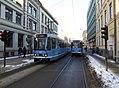 Oslo tram line 13 and 12 on Prinsens gate.jpg