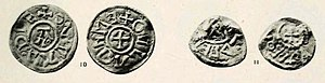 Oswald of East Anglia - Two coins of Oswald, now in the British Museum