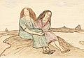 Otto Modersehn Zwei sitzende Frauen in der Worpsweder Heide 1911.jpg