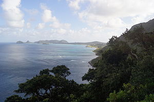 Lord Howe Island Marine Park - View of the Lord Howe Island lagoon, a part of the Lord Howe Island Marine Park