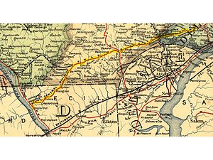 Philadelphia and Baltimore Central Railroad - Image: P&BC RR map 1895