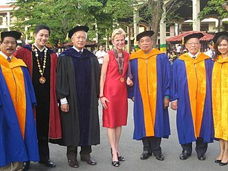 University of the City of Manila - Manila Mayor Alfredo Lim, PLM President Adel Tamano, US Ambassador Kristie Kenney, and some members of the University administrative team.
