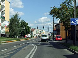 Main street in Żuromin