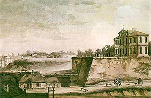 Ostrogski Palace - 18th-century painting