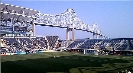 Talen Energy Stadium before semi-final game between Philadelphia Independence and magicJack in 2010--the Independence's final home game ever. PPL Park before Independence Playoff Game 2010.jpg