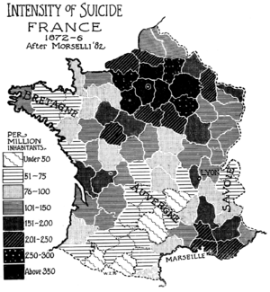 Suicide in France - Image: PSM V52 D493 Intensity of suicide in france 1872 1876