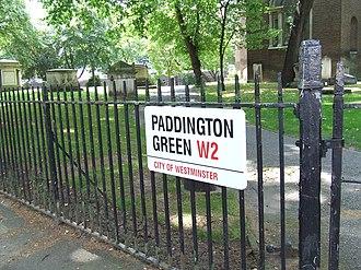 Paddington Green, London - Image: Paddington Green, London sign