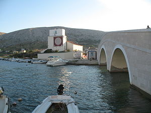 Pag (town) - A bridge in Pag