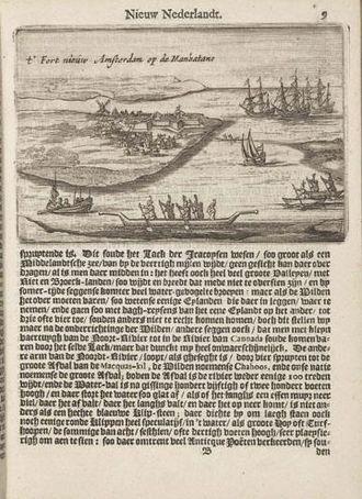 Adriaen van der Donck - Image: Page from Beschryvinge van Nieuw Nederlant