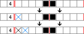 Nonogram - Image: Paint by numbers Solving Example 8