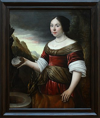 Anthonie Palamedes - Anthonie Palamedes, Portrait of Woman from Grenoble, Museum of Grenoble, 1671