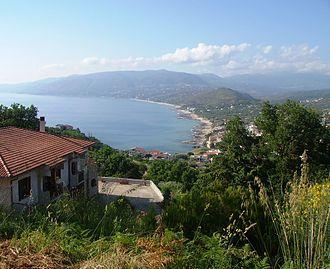 Palinuro - Palinuro seen from the surrounding hills