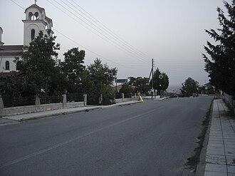 Palaio Keramidi - The main street of Palaio Keramidi
