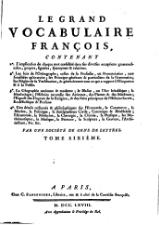 Panckoucke - Le grand vocabulaire françois, 1768, T6.djvu