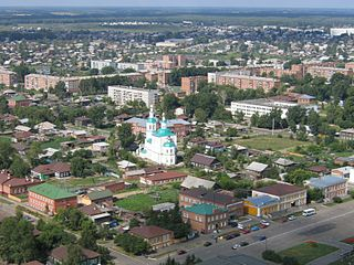 Town in Omsk Oblast, Russia
