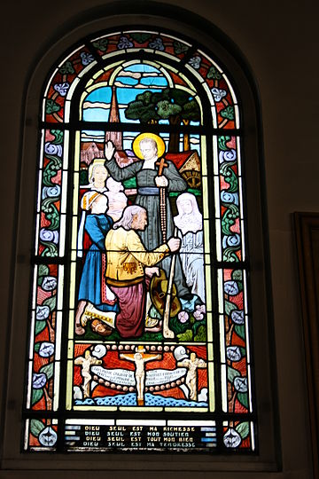Stained glass of St. Louis de Montfort in Paris Paris Saint-Honore d'Eylau906.JPG