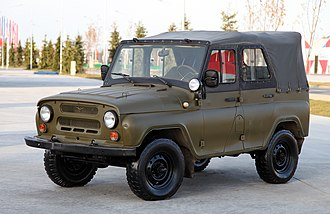 A typical Soviet military jeep UAZ-469, used by most countries of the Warsaw Pact ParkPatriot2015part4-12.jpg