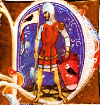 Győr (genus) - German knight Pat (Poth), depicted in the Illuminated Chronicle
