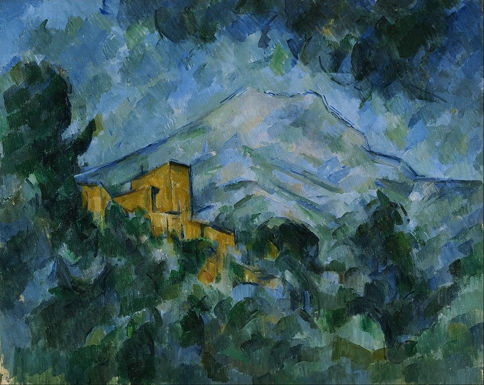 Paul Cezanne - Mont Sainte-Victoire and Ch%C3%A2teau Noir - Google Art Project