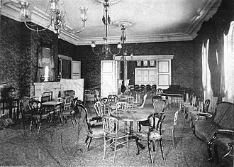 Kazoku - Interior of Peers' Club, Tokyo 1912.