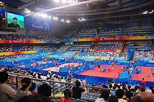 Peking University Gymnasium - Peking University Gymnasium during the 2008 Summer Olympics