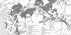 Wete - City map of Wete (Pemba)