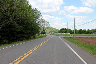 Pennsylvania Route 487 - PA 487 looking northwards in Stillwater, Columbia County