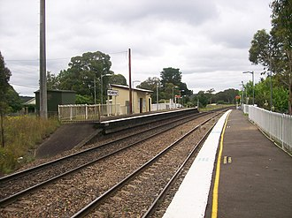 Penrose railway station, New South Wales - Northbound view from Platform 2